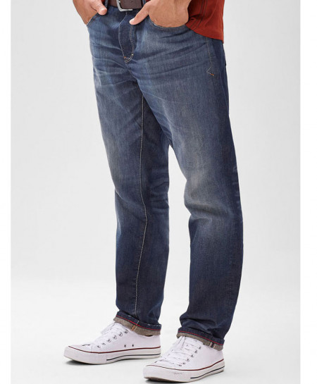 Blue Denim Scube Relaxed Jeans PSM-081