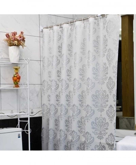 White Flower Eco-Friendly Bath Curtain 180x180cm