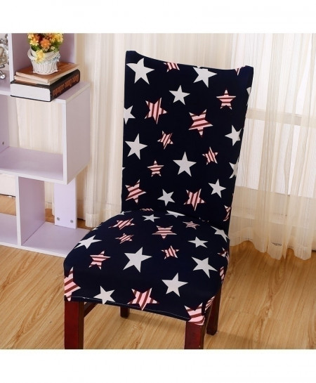 Black Stars Printing Removable Stretch Slipcovers Chair Cover