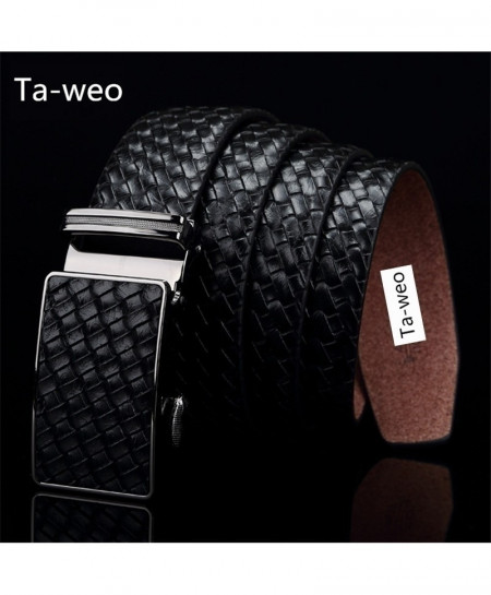 Choco Brown Leather Automatic Buckle Designer Belt