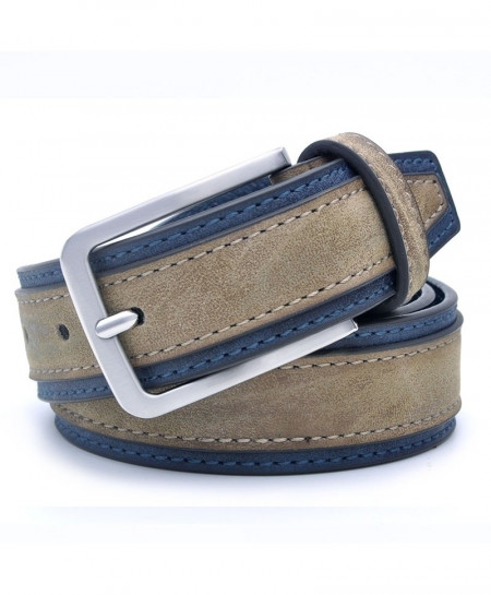 Blue Gray Patchwork Designers Luxury Belt