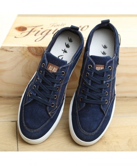 Blue Breathable Denim Canvas Shoes
