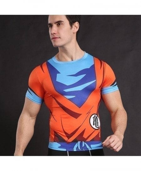 Goku Cosplay Fitness Cross Fit Top T-Shirt