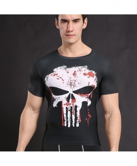 Punisher Cosplay Fitness Cross Fit Top T-Shirt