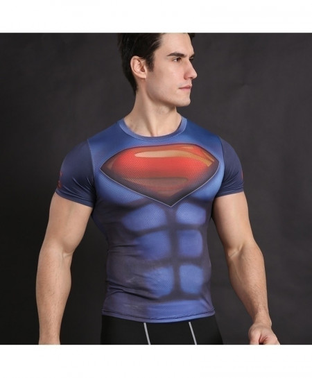 Superman Cosplay Fitness Cross Fit Top T-Shirt