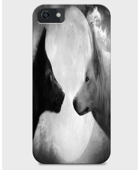Wolf Sketch 3D Sublimation Print iPhone Case BNS-013
