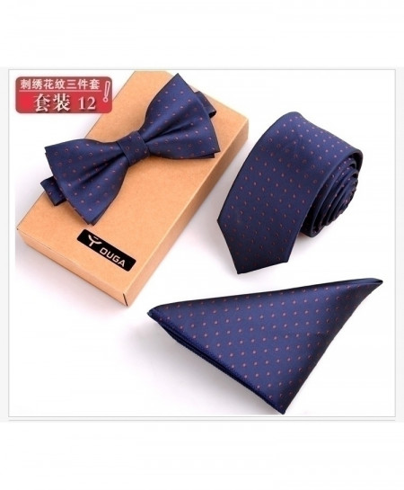 Navy Red Dotted Ties Set