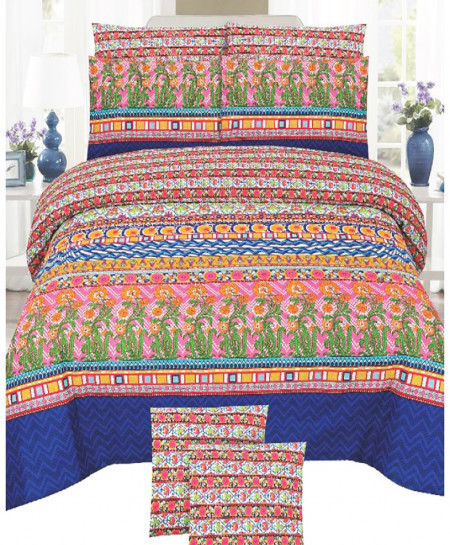 MultiColor Floral Cotton Bedsheet SY-891