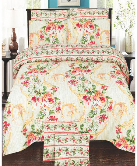 Off-White Floral Cotton Bedsheet SY-893