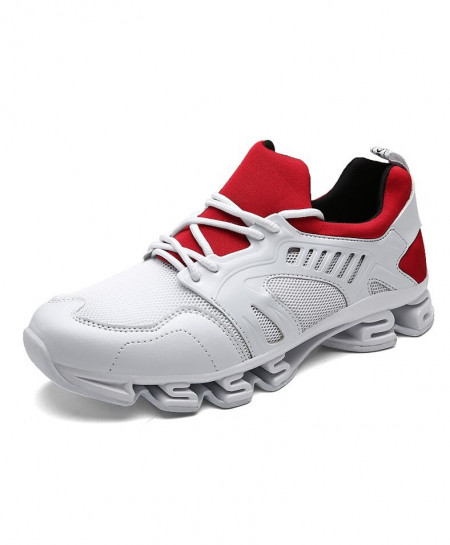 Bolangdi White Red Breathable Professional Running Shoes
