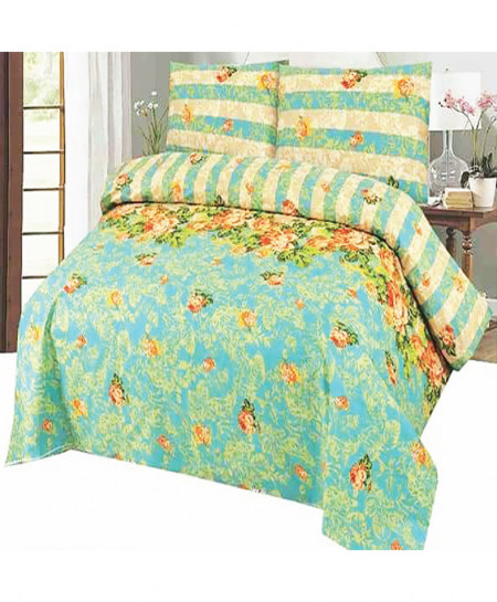 Blue Floral Cotton Bedsheet SY-933