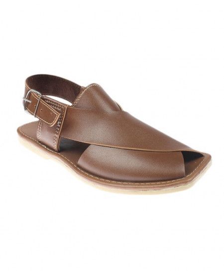 Brown PU Sole Peshawari Sandal JPK-047