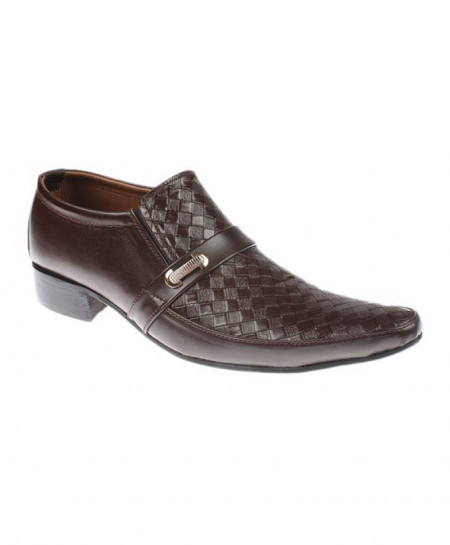 Brown Cow Leather Formal Shoes JPK-052