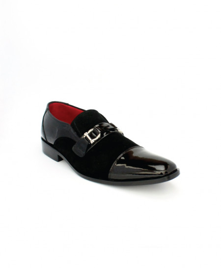 Corio Black Men Classic Tie Up Leather Loafer CSR-C101169