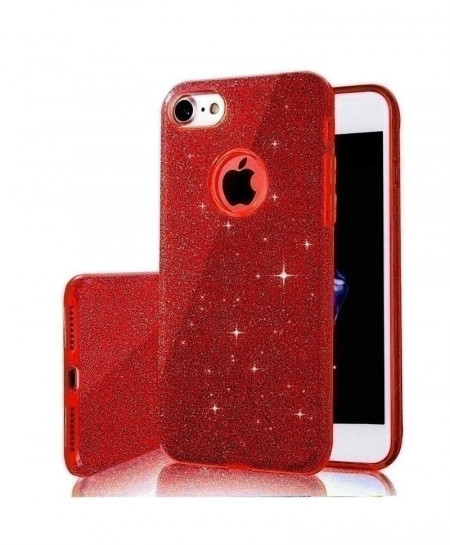MaxGear red 3 IN 1 Gradient Glitter iPhone Cover Case