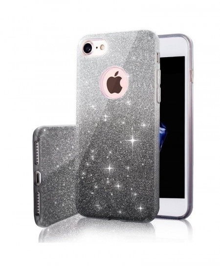 MaxGear Grey 3 IN 1 Gradient Glitter iPhone Cover Case