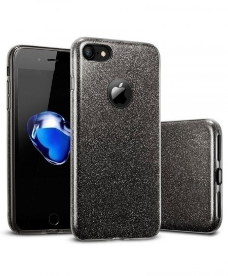 MaxGear Black 3 IN 1 Gradient Glitter iPhone Cover Case