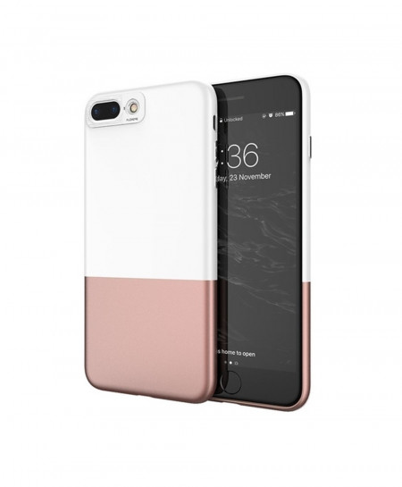 FLOVEME Pink White iPhone Splice Ultra Thin Phone Case