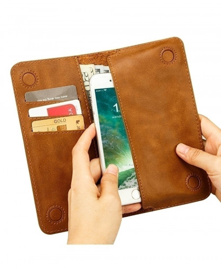 Jisoncase Magnetic Leather Wallet Phone Case