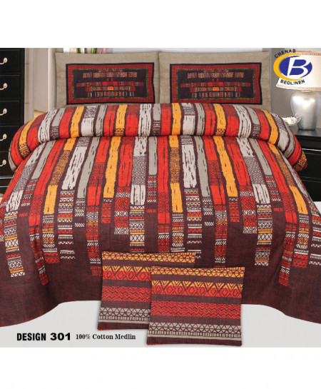 MultiColor Designer Cotton Bedsheet PBS-D-301