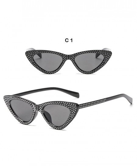 6ec3d1ca90ae Buy Black Triangle with Diamond Fashionable Cat Eye Sunglasses ...
