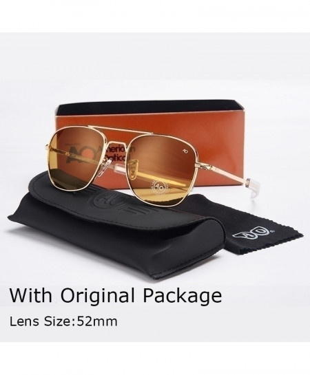 Brown Lense Fashion Aviation Men Army Military Sunglasses