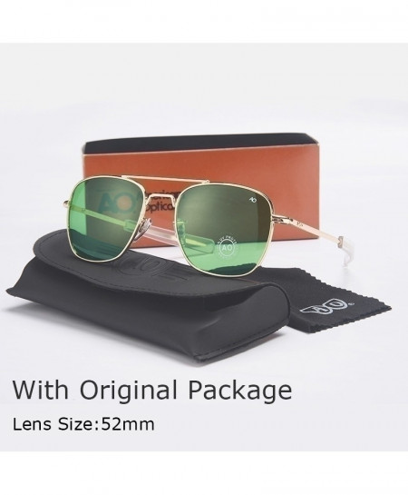 Green Lense Fashion Aviation Men Army Military Sunglasses