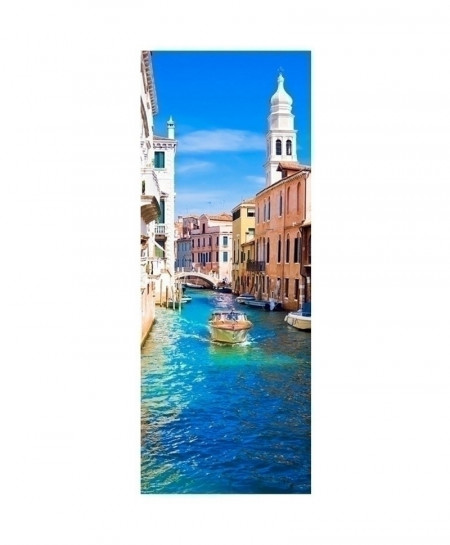 Venice City View Door Wall Sticker