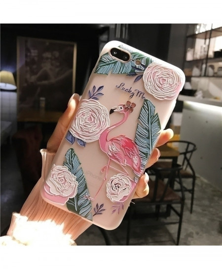 Niceking 3D Beautiful Pink Swan Matte Soft Back Cover