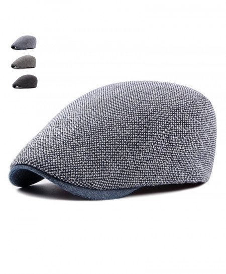 Navy Breathable Bone Brim Adjustable Beret Hat