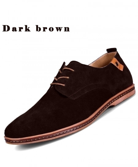 TOURSH Choco Brown Leather Casual Shoes