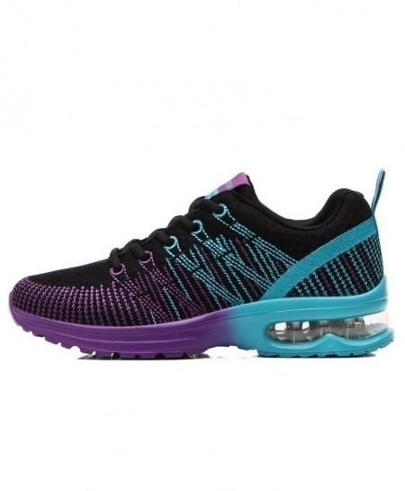 Akexiya Violet Blue Sneakers Breathable Mesh Ladies Sport Shoes