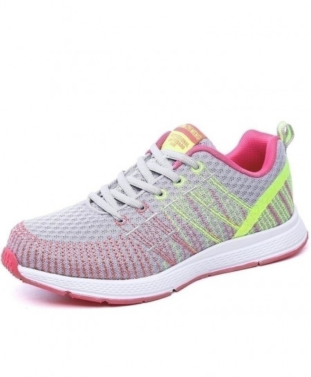 Akexiya Pink Breathable Mesh Sport Running Shoes