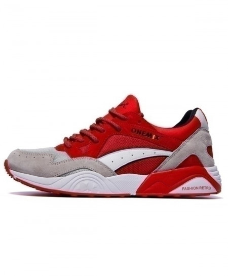 Onemix Red White Breathable Running Shoes