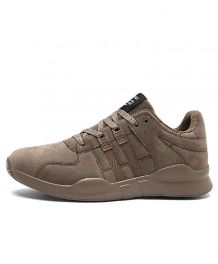 Joomra Brown Leather Running Shoes