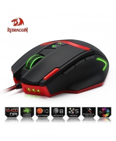 Redragon Engine 9 Programmable Buttons Gaming Mouse
