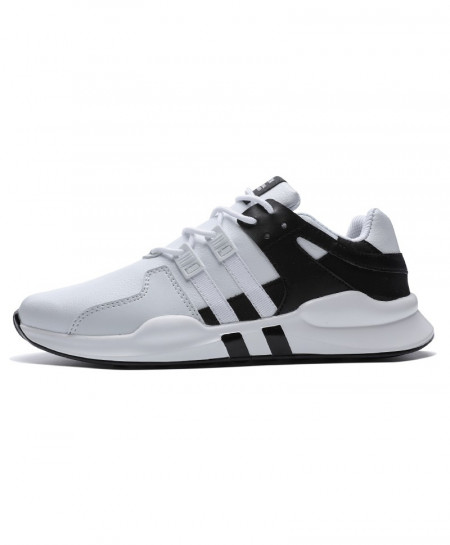 White Black Running Leather Ankle Sport Shoes