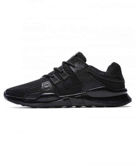 Black Running Leather Ankle Sport Shoes