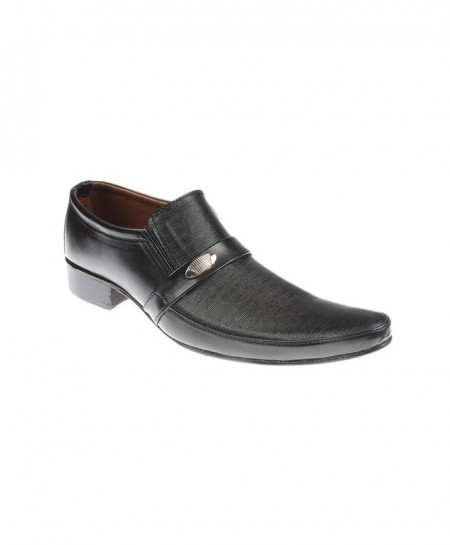 Black Cow Leather Formal Shoes JPK-050