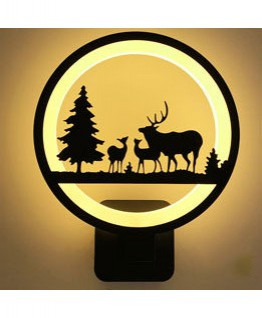 Modern Animals Forest 12W Black Acrylic Led Wall Light LED Sconce Wall Lamp