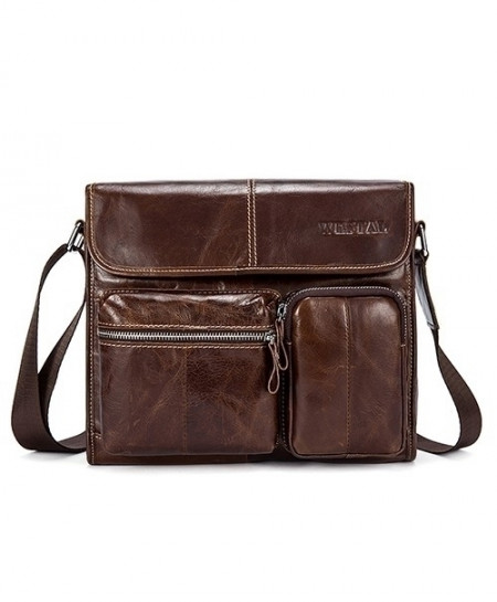 WESTAL Brown Leather Shoulder Bag