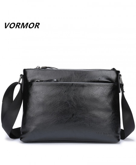 VORMOR Black PU Leather Shoulder Crossbody Bag