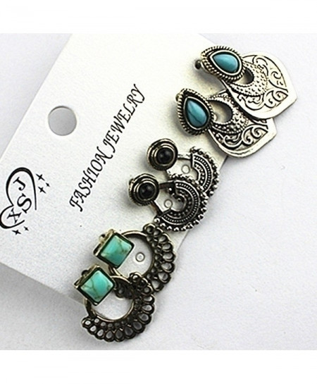 3 Party Style Mixed Ear Ring Set