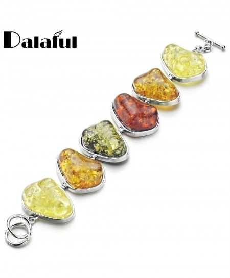 Baltic Simulated Synthetic Honey Link Bangle Bracelet