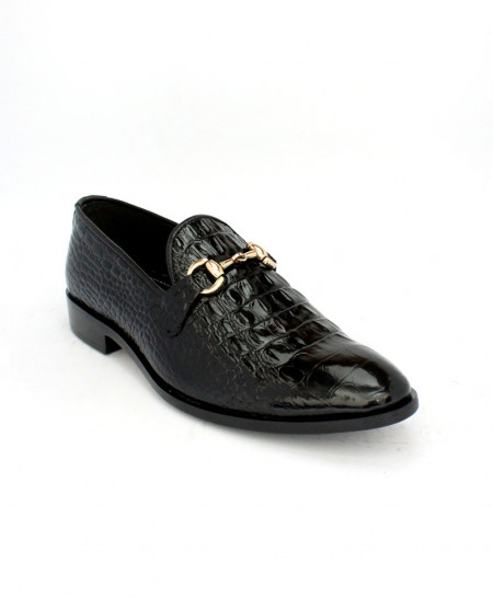 Corio Black Patent Leather Shoes JC-177