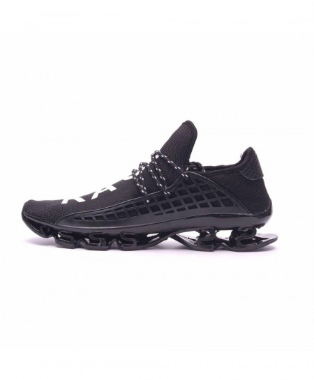 Joomra Pure Black Sport Running Breathable Mesh Shoes