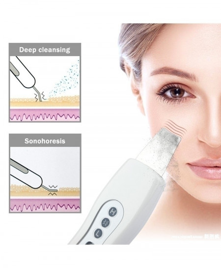 New Ultrasonic Ion Skin Scrubber Rechargeable Microdermabrasion Deep Cleaning
