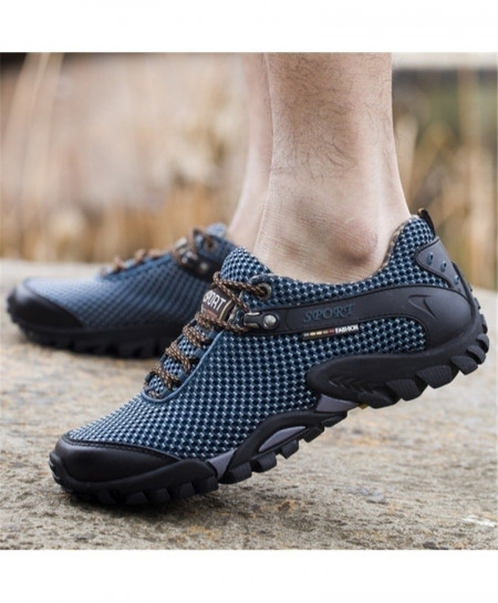 Blue Dotted Sport Running Anti-Skid Shoes