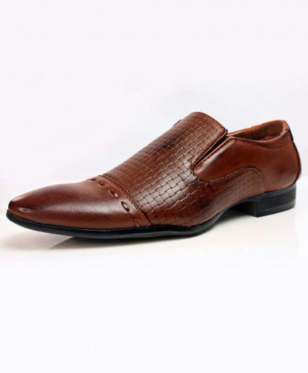 Choco Brown Slip On Design Stylish Formal Shoes CB-2157