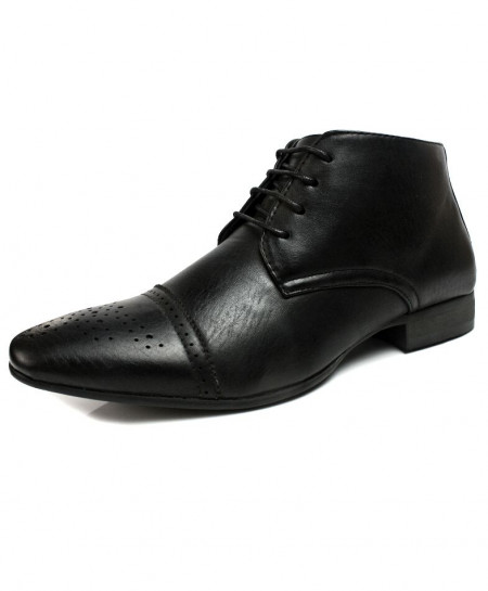 Black Lace up Design Stylish Formal Shoes CB-2165